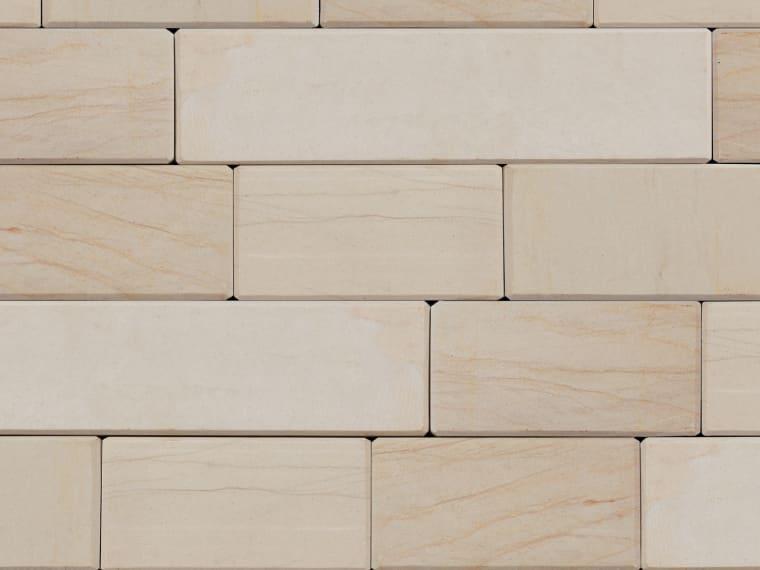 Marshalls Stoneface Sawn Veneer in Caramel Cream Multi.