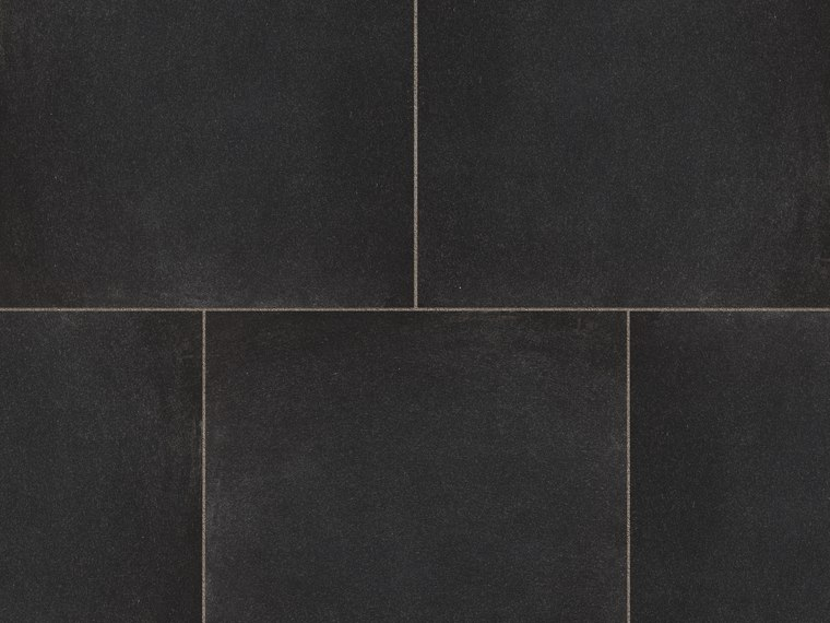 Marshalls Symphony Vitrified paving in black.