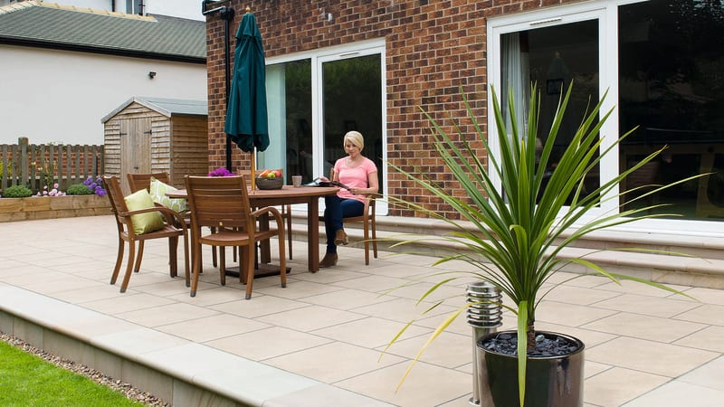 Arrento Vitrified Garden Paving - Beige