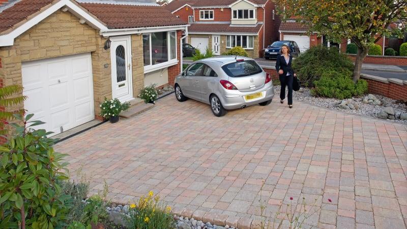 Concrete block paved driveway