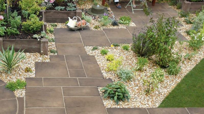 Heritage Riven Garden Paving - Weathered Yorkstone