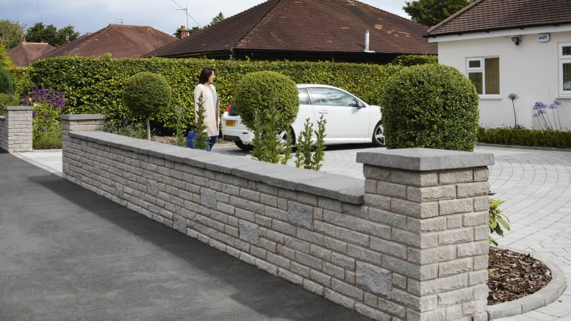 Marshalite Walling Pitched Face - Ash Multi
