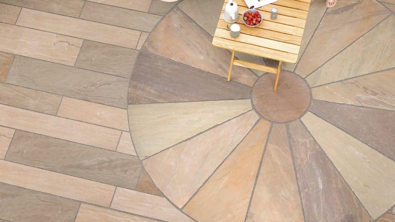 Riven Harena Linear And Circle - Autumn Bronze Multi