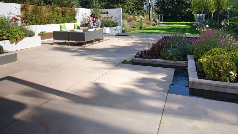 Cream sandstone patio in luxury style