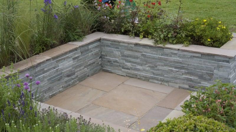 Stoneface Drystack Veneer Walling - Slate Verte