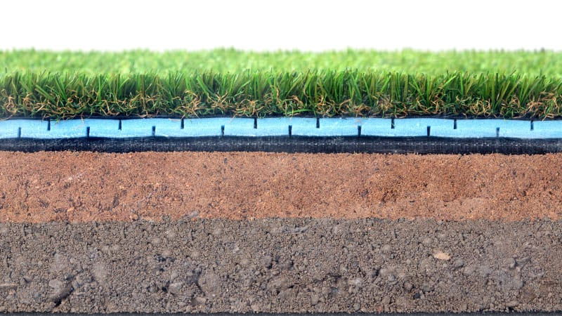 Marshalls Always Green artificial grass membrane in black
