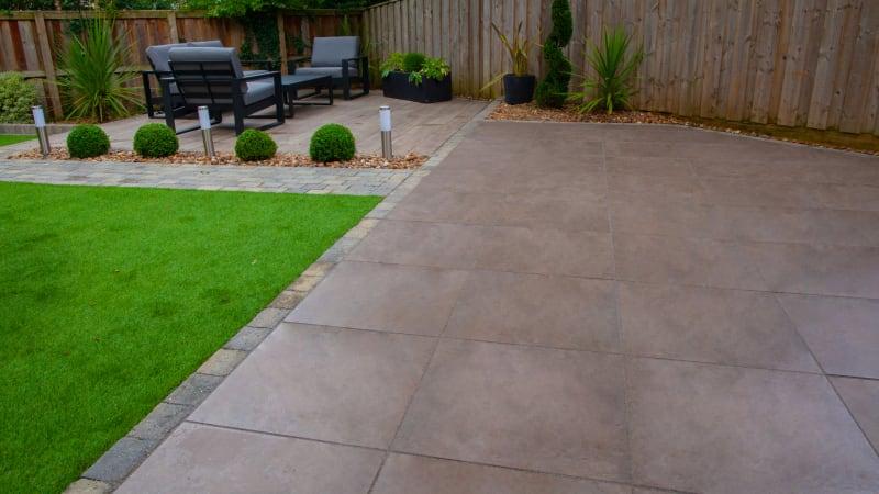 Marshalls Arrento garden paving in Bronze