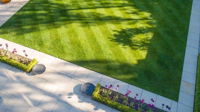 Marshalls Arrento garden paving in Cream