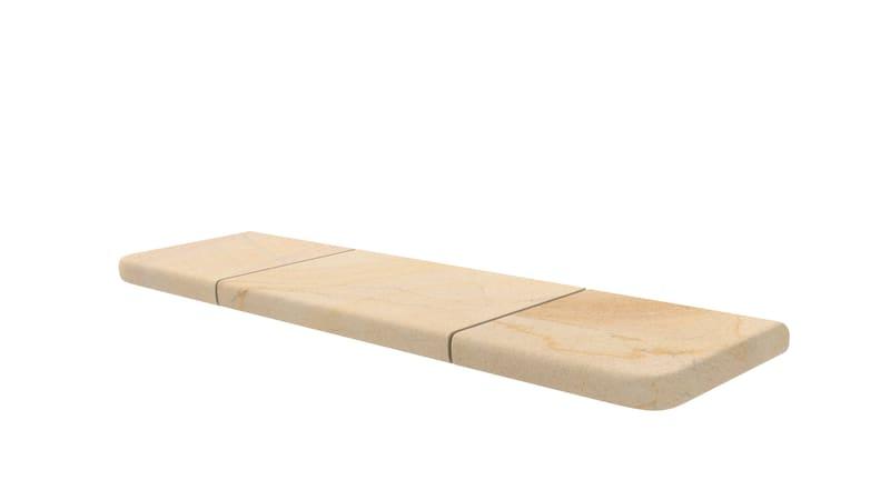 marshalls sawn versuro bullnose steps in golden sand multi
