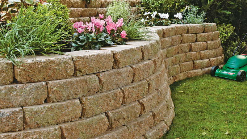 Marshalls Croft Stone walling in Weathered.