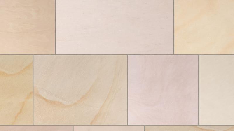 Marshalls sawn versuro jumbo in golden sand multi swatch