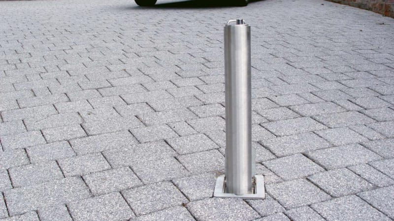 Marshalls Driveway Security Post in Grey