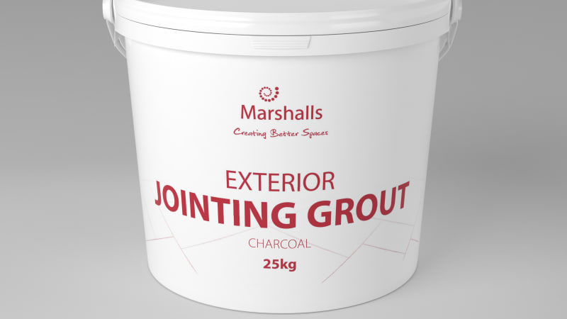Marshalls Exterior Jointing Grout tub in charcoal