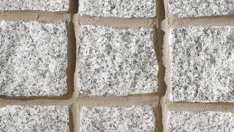 Cropped Granite Setts - Silver Grey
