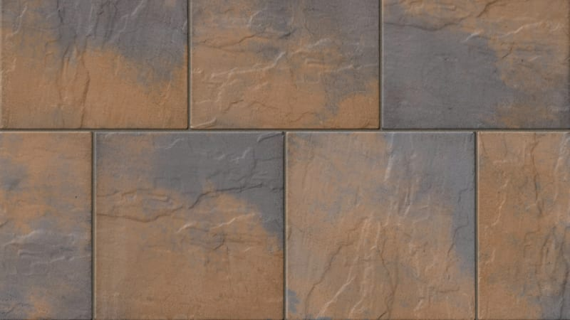 Marshalls Heritage Paving Swatch in Calder Brown Colour
