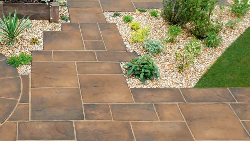 Marshalls Heritage Paving in Weathered Yorkstone Colour