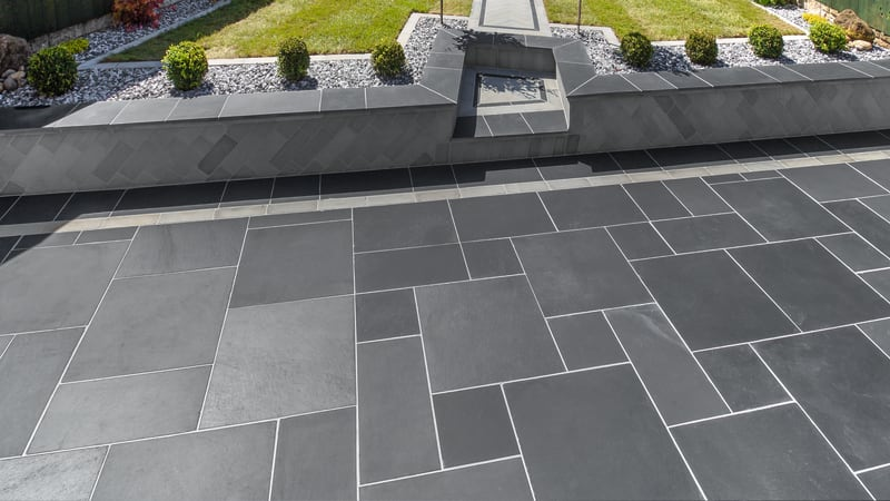 Marshalls Natural Slate in with Blue