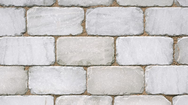 Marshalls Sawn and Tumbled Natural Stone Setts in Silver Birch.