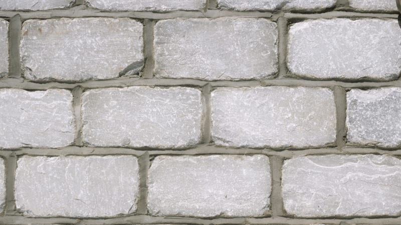 Marshalls split and tumbled natural stone setts in silver birch.