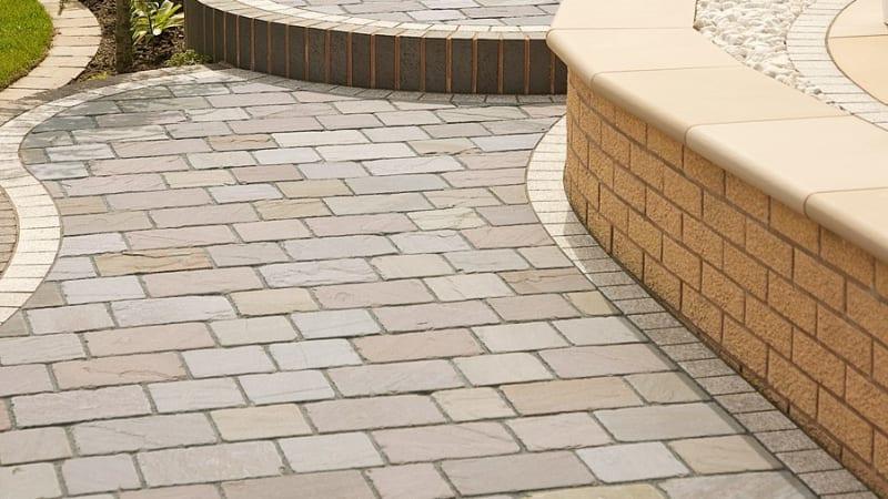 Marshalls Sawn Sandstone Setts in Autumn Bronze
