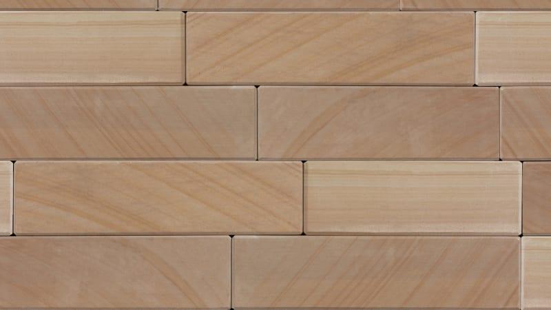 Marshalls Sawn garden walling - golden sand multi