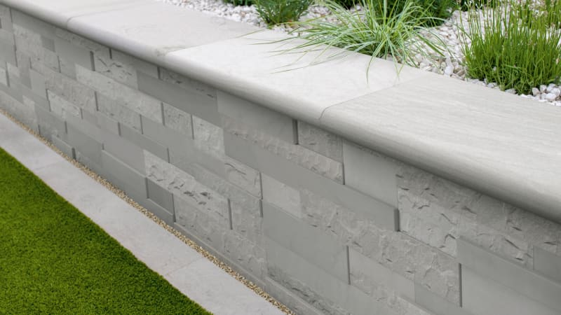 Marshalls Stoneface Textured Walling in silver birch multi