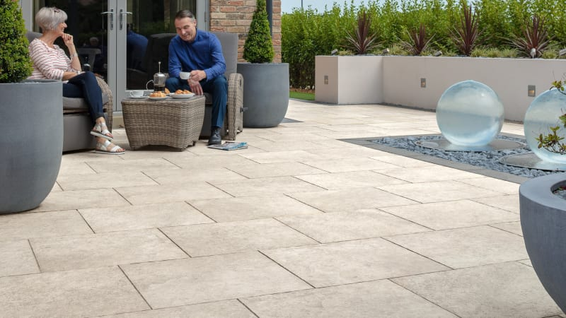 Marshalls Symphony Natural Paving in ivory