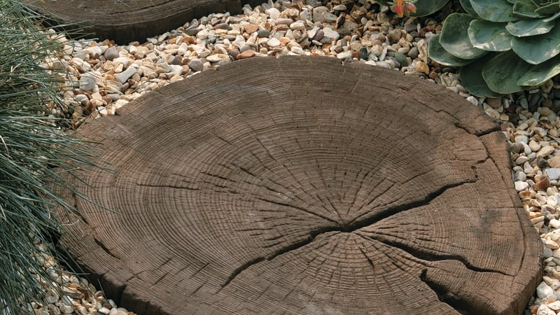 Marshalls Woodstone stepping stones in driftwood