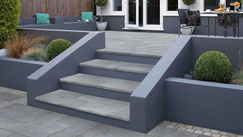 Bullnose Steps Casarta Slate - Silver Grey