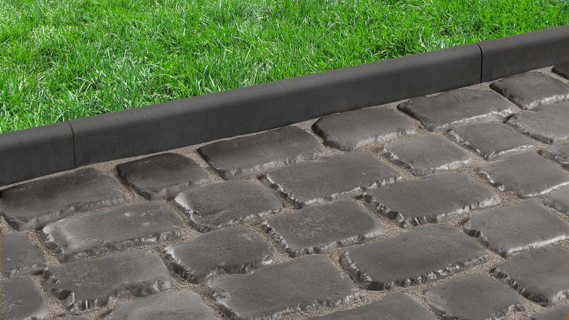 Drivesys Roundtop Edging - Basalt