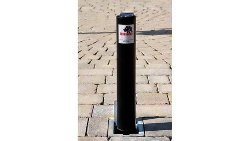 Telescopic Driveway Security Post - Black