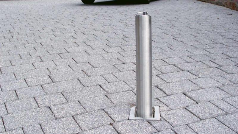 Driveway Security Post - Grey