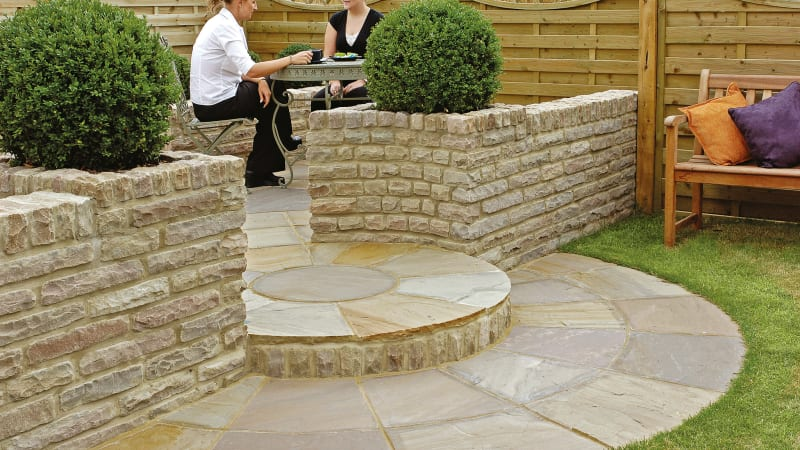 Traditional Natural Stone Tumbled Walling - Autumn Bronze