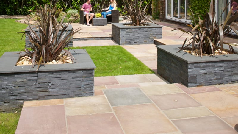 Indian Sandstone - Brown Multi