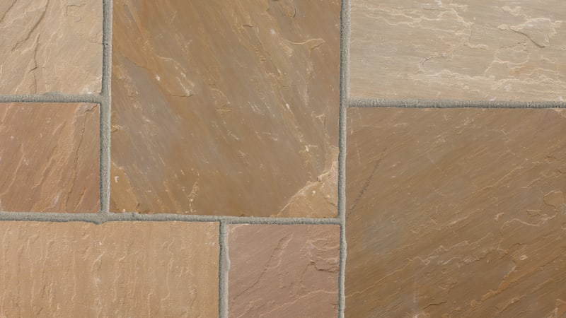 Indian Sandstone Circle - Brown Multi