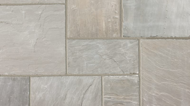 Indian Sandstone Circle - Grey Multi