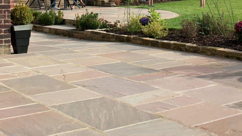 Indian Sandstone - Buff Multi
