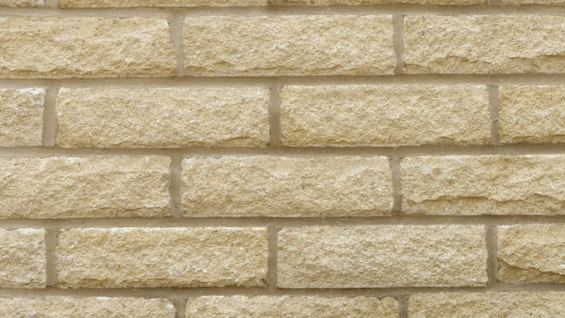 Marshalite Pitched Face Walling - Buff