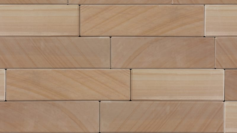 Stoneface Sawn Veneer Walling - Golden Sand Multi