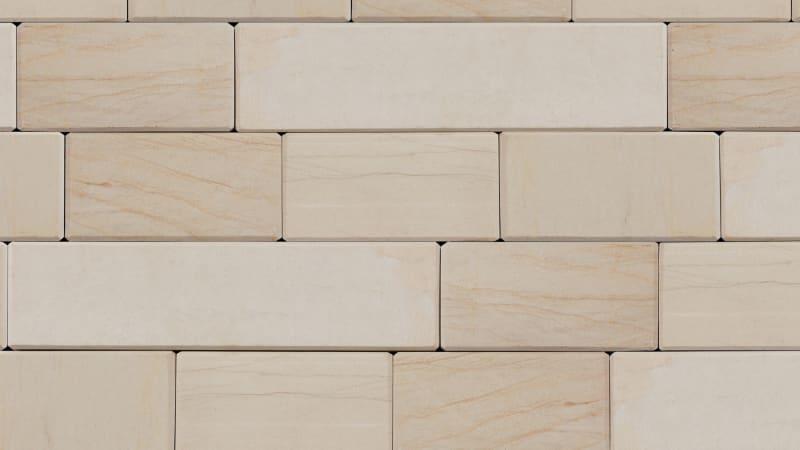 Stoneface Sawn Veneer Walling - Caramel Cream Multi