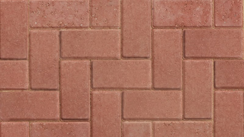Standard Block Paving - Red