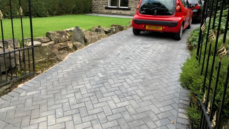 Standard Concrete Block Paving - Charcoal