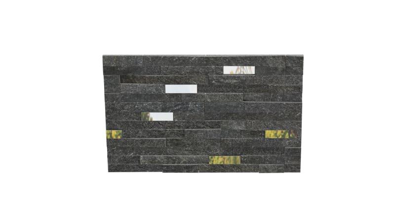 Stoneface Drystack Veneer Walling- Nero Quartzite Mirror