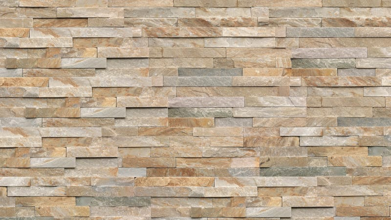 Stoneface Drystack Walling - Harvest Mix Quartzite