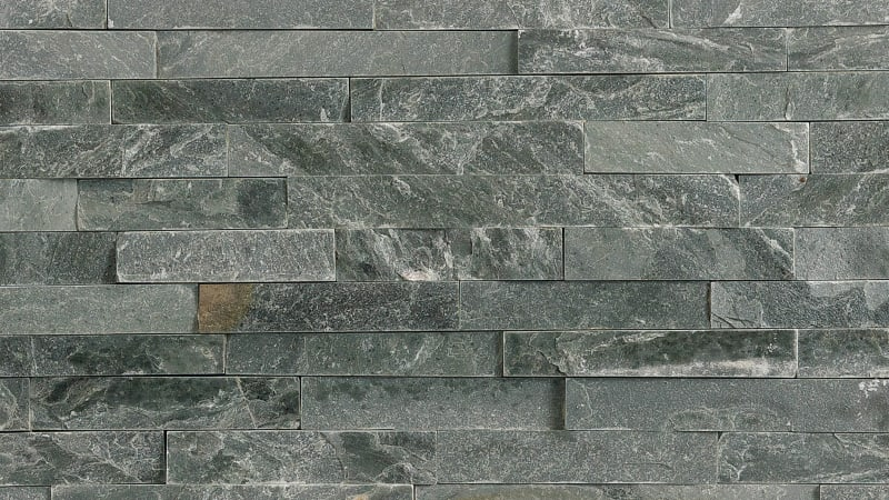 Stoneface Drystack Walling - Slate Verte
