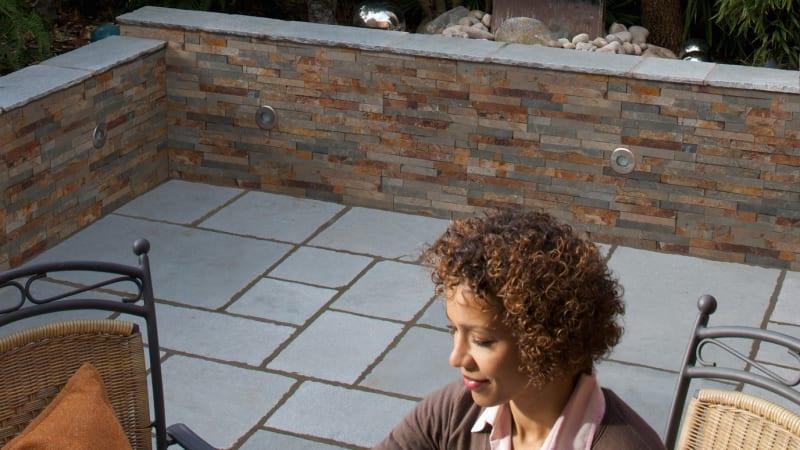 Stoneface Drystack Veneer Walling - Copper Slate