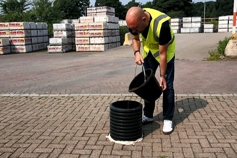 Infiltration testing for Priora permeable paving