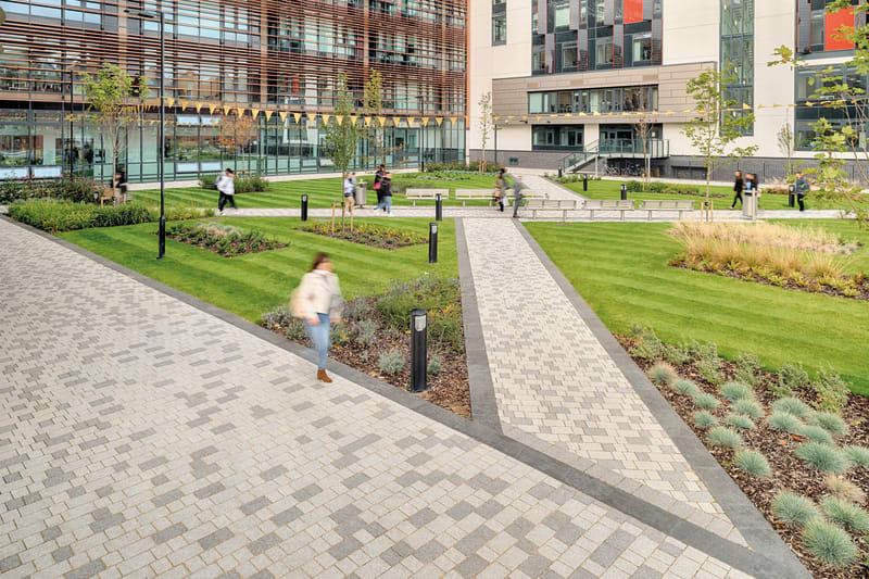 Modal paving at De Montfort University