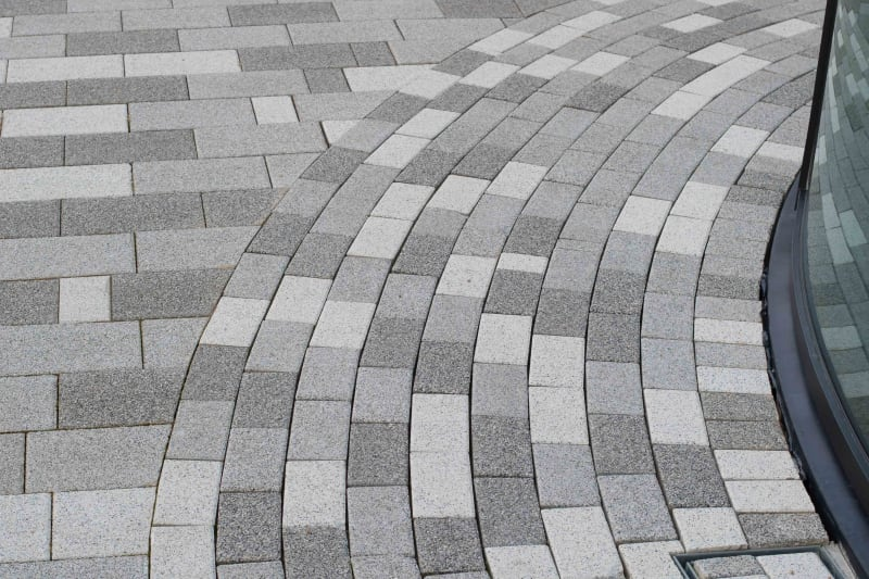 Modal paving at Liverlpool Exhibition Centre