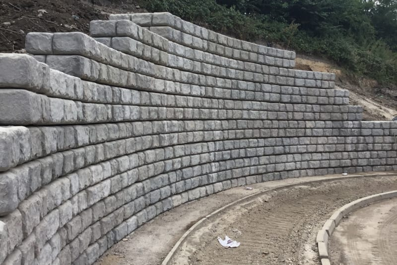 Redi-Rock Retaining Wall